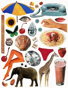 Collage Kit Pictures and patterns that you can print out, cut up, and put together any way you'd like! By Beth Hoeckel. Collage Book, Collage Sheet, Wall Collage, Collage Artwork, Collages, Magazine Collage, Collage Background, Collage Design, Collage Illustration
