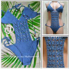 Crochet Monokini Pattern Crochet Bikini Pattern Crochet Swimsuit OnePiece Bikini…