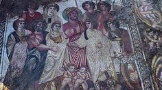 Mosaico de «Las bodas de Cadmo y Harmonia», el más valioso de los hallados en esta antigua villa romana