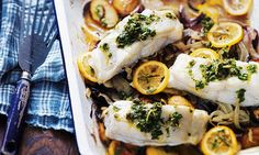 A twist of lemon: Roasted fish with lemon and fennel