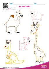 edubuzzkids - Printable math tall and short worksheets for preschool and kindergarten.Kids will be able to color the taller and shorter animals on different worksheets. English Worksheets For Kids, Kids Math Worksheets, Preschool Activities, Preschool Plans, Printable Worksheets, Book Activities, Labor Day Crafts, Kindergarten Poems, Nursery Worksheets