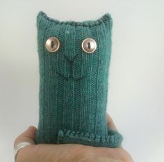 Stuffed Kitty Cat  from upcycled sweaters