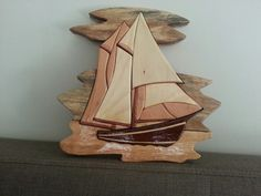 Sailboat intarsia. I made it
