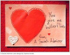 Joanne Arnett is raising funds for Secret Admirer on Kickstarter! I'll send a handmade postcard to your crush, from a secret admirer. Secret Admirer, Will Arnett, Valentine Day Love, Give It To Me, Messages, Internet Offers, Projects, Cards, Handmade