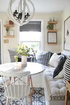 Cushions for Banquettes and Window Seats- Online Sources #diningroomstyle #diningroom #cushions #throwpillows