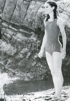 """Audrey Hepburn (as Joanna Wallace) photographed by Terry O'Neill in St. Tropez (France), during the filming of """"Two for the Road..."""