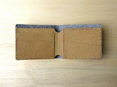 簡約水洗牛皮紙 短夾 - people | Pinkoi Vegan Wallet, Short People, Kraft Paper, Paper Clip, Leather Craft, Simple, Crafts, Felt, Bags