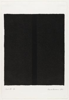 Barnett Newman, Canto IV from 18 Cantos, 1963 Abstract Expressionism, Abstract Art, Victor Pasmore, Barnett Newman, Fashion Gone Rouge, Colour Field, Black And White Abstract, Art Abstrait, Tumblr