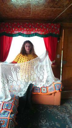 Mi otra cenefa navideña a crochet
