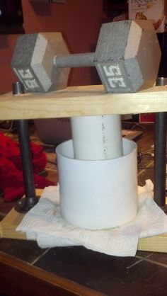 making your own cheese press