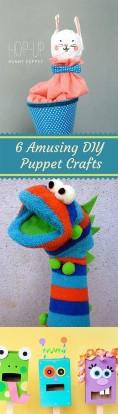 6 Amusing DIY Puppet Crafts for Kids