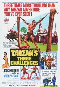 Tarzan's Three Challenges (MGM, Insert X and Pressbook (Multiple Pages). Tarzan (Jock - Available at Internet Movie Poster Auction. Tarzan Series, Tarzan Movie, Baby Elephant Name, Robert Day, Tarzan Of The Apes, Sword Fight, Movie Poster Art, Hollywood, Hd Movies