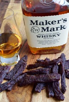 Looking for a rough and tough beef jerky made for a REAL man? You just found it. Bourbon + Jerky = Manly | Jerkyholic.com Jerky Recipes, Venison Recipes, Grilling Recipes, Cooking Recipes, Dehydrator Recipes Jerky, Deer Jerky Recipe, Smoker Recipes, Bourbon Beef Jerky Recipe, Beef Jerky