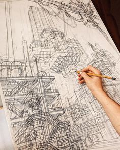 Architecture Drawing Sketchbooks, Architecture Concept Drawings, Architecture Student, Architecture Art, Architect Jobs, Building Sketch, Perspective Art, Art Sketchbook, Art Sketches