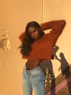 Image about chocolate in Melanin 🍫💁🏽 by Becks Beautiful Black Girl, Pretty Black, Winter Chic, Black Girl Magic, Black Girls, Pretty People, Beautiful People, Look Fashion, Street Fashion
