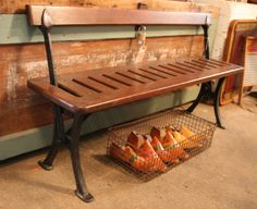 industrial style - train bench