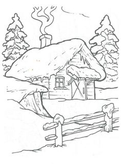 Birdhouse, cottages, trees and landscape embroidery patterns