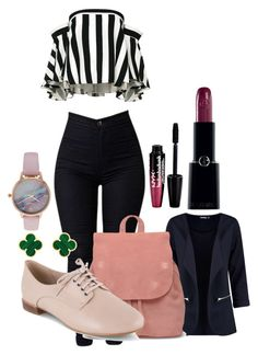 """""""Untitled #1578"""" by social-outcast-16 on Polyvore featuring Milly, TOMS, Clarks, Giorgio Armani, Van Cleef & Arpels, Vivani and Charlotte Russe"""