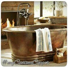 Custom copper tubs by Rustica House. #myrustica