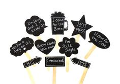 Wedding Chalkboard Photo Booth Props Cute by CreativeButterflyXOX, $24.00