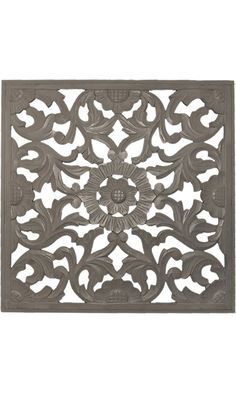 """Fetco Home Decor Zaria Handcrafted Square Wall Medallion, 36""""/Large, Distressed Grey Best Price"""