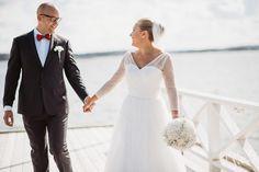 Groom |Bride | Clouds |Weddings |Wedding Photography |Jere Satamo |First Look | Wedding Portrait