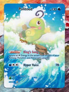 Politoed - Furious Fists 18/111 Original Illus. by Atsuko Nishida / Extended Art by Poké-Alters -For Sale- Commission Info | Shop