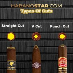 Habanostar.com — Straight Cut  The straight cut is the most common,... Small Rings, V Cuts, Hole Punch, Straight Cut, Cigars, Tiny Rings, Cigar, Smoking, Paper Punch