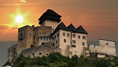 Trencin Castle at sunset stock photo. Image of building - 13068988 Tatra Mountains, Big Country, Central Europe, Bratislava, Ancient Architecture, Travel And Leisure, Eastern Europe, Panama, Travel Destinations