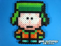 Set of 4 SOUTH PARK Perler Bead Sprite Characters - Stan, Kyle, Kenny, Cartman with stands. $20.00, via Etsy.