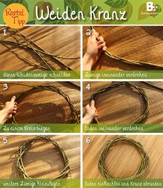 Simple willow wreath Instructions – basic form Basic Willow Wreath Tutorial / Simple instructions for a willow wreath (Diy Wreath) Willow Branches, Willow Tree, Tree Branches, Stick Wreath, Diy Wreath, Willow Wreath, Grapevine Wreath, Willow Weaving, Basket Weaving