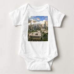 Jakarta indonesia skyline baby t shirt travel clothing charlotte north carolina city skyline baby bodysuit modern gifts cyo gift ideas personalize negle Image collections