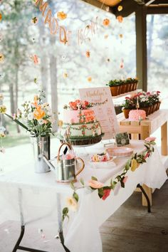 Birthday Garden Party Birthday Garden Party on Kara's Party Ideas Garden Theme Birthday, Girl Birthday Themes, First Birthday Parties, Classy Birthday Party, Fall Birthday, Garden Party Decorations, 1st Birthdays, Bridal, Party Ideas