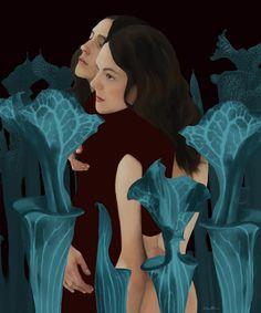 Carnivorous plant 🌿 by Daria Petrilli Surrealism Painting, Pop Surrealism, Alternative Comics, Carnivorous Plants, Lowbrow Art, Italian Artist, Pixel Art, Savage, Disney Characters