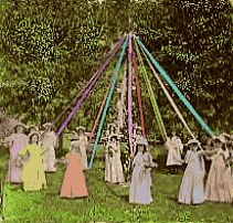 Happy May Day...I did the maypole dance with my third grade class :-) oh, waldorf