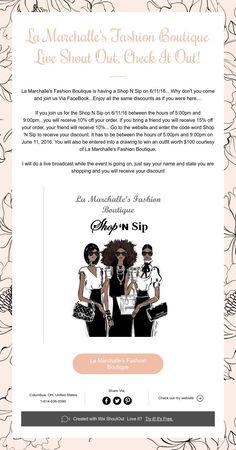 La Marchalle's Fashion Boutique Live Shout Out,Check It Out!