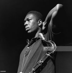 Jazz saxophonist John Coltrane takes a break during the recording session for his Blue Train album.