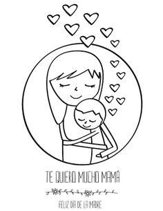Tarjeta del Día de la Madre para colorear. http://dibujos-para-colorear.euroresidentes.com/2013/04/tarjetas-del-dia-de-la-madre-para.html