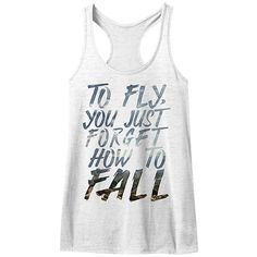 American Classics White Heather 'Forget How to Fall' Racerback Tank ($15) ❤ liked on Polyvore featuring tops, white racerback tank, racer back tank, white top, long tank and long white tank