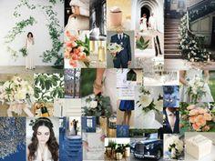 vinterbröllop i vår, vinter färger med blått, grönt och korall