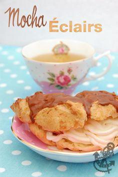 coffee mocha eclairs recipe choux bun french patisserie classic