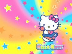 Hello Kitty Sanrio Rainbow Image Photo Cake Topper Sheet Personalized Custom Customized Birthday Party 14 Sheet 77618 ** Check out this great product. Images Hello Kitty, Hello Kitty Fotos, Chat Hello Kitty, Hello Kitty Imagenes, Hello Kitty Backgrounds, Hello Kitty Wallpaper, Wallpaper Backgrounds, Rainbow Images, Rainbow Wallpaper