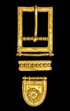 Gold Belt Buckle Suite, 14th-15th century