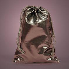 Patent silver favor bag