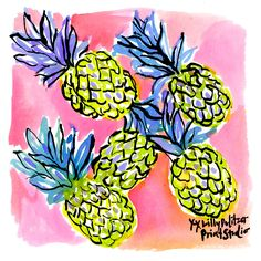 A pineapple a day keeps the summer here to stay. #Lilly5x5 #SummerInLilly