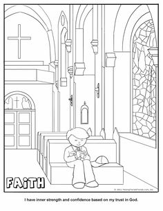 Faith Coloring Page.  Wolf Cub Achievement 11a