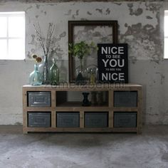 robust and chunky Home Decor Furniture, Industrial Furniture, Rustic Industrial, My Living Room, Home And Living, Interior Styling, Interior Design, Home And Deco, Inspired Homes