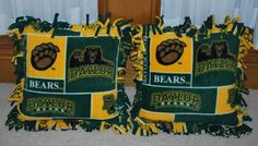 I want these! #Baylor pillows OMG just found out Baylor has a Pinterest, so excited!