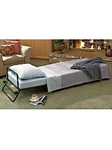 Fold-Out Ottoman Guest Bed —Fold-away bed when the grandkids or guests sleep over | Gold Violin