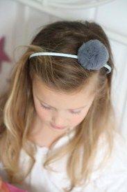 Jelonkovo headband pompom tulle